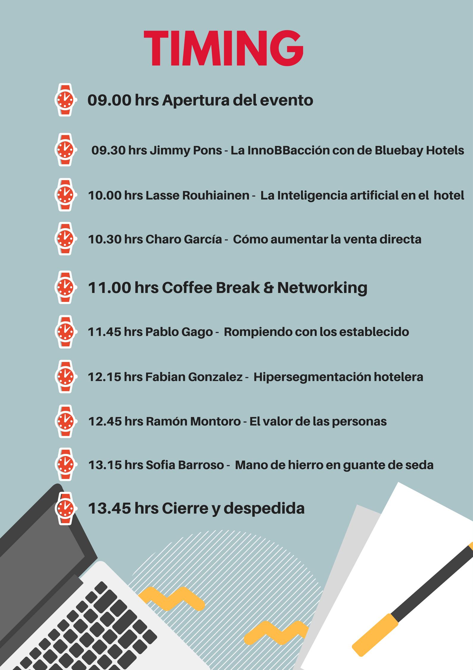 Hotel Innovacion 2017 Timing